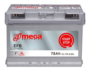 Аккумулятор A-Mega EFB 78Ah (0) Start-stop