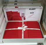 Комплект постельного белья Aran Clasy delux ранфорс 200*220 KIRMIZI, фото 2
