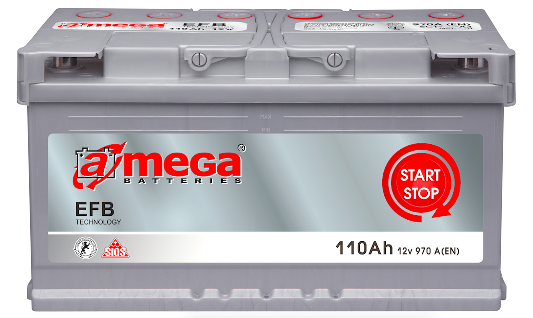 Аккумулятор A-Mega EFB 110Ah (0) Start-stop