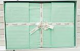 Комплект постельного белья Aran Clasy delux ранфорс 200*220 SU YESILI, фото 2