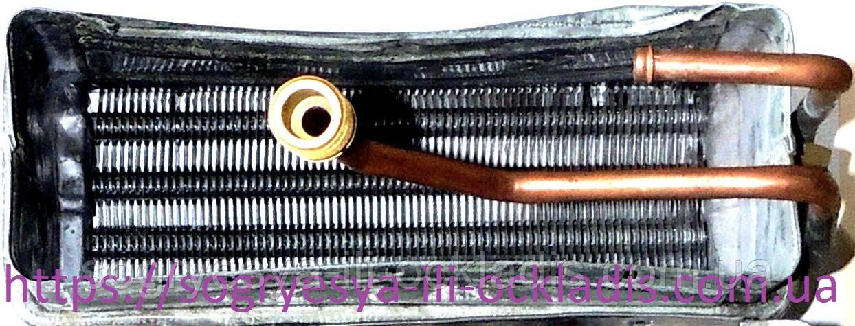 Теплообменник 240/ 85/ 160 мм - кожух (б.ф.у, Китай) колонок газовых версия турбированная, к.з. 0270/3.