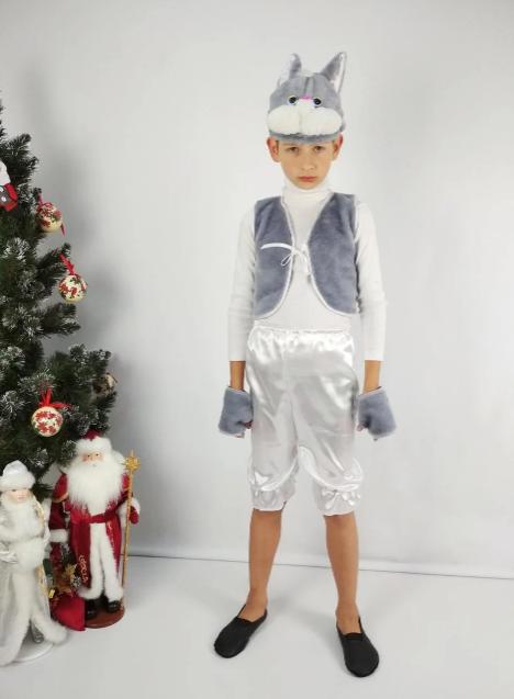 Карнавальний костюм Котик сірий