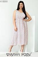 Летнее воздушное пудровое платье женское из шифона ЮГ/-1464