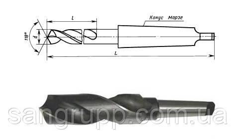 Свердло до/х 66 мм середня серія Р6М5