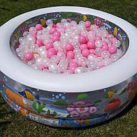 Детский надувной бассейн с шариками Аквариум