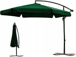 Садовый зонт большой зеленый 300 см Furnide Польша