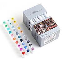 Набор скетч-маркеров для рисования 30 штук  Скетч-маркеры двусторонние для бумаги профессиональные Marco