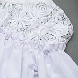 Блузка з довгим рукавом SmileTime Susie з гіпюром, білий, фото 2