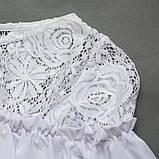 Блузка з довгим рукавом SmileTime Susie з гіпюром, білий, фото 3