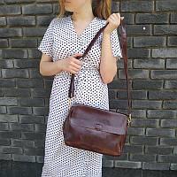 """Женская кожаная сумка """"Синди4, Brown"""", фото 1"""