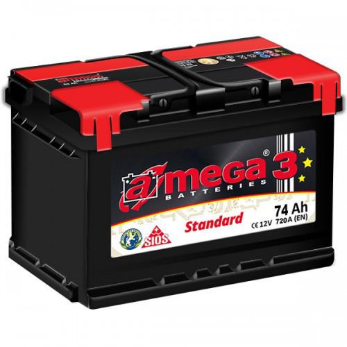 Аккумулятор A-mega Standard 6СТ-74-АЗ (1)