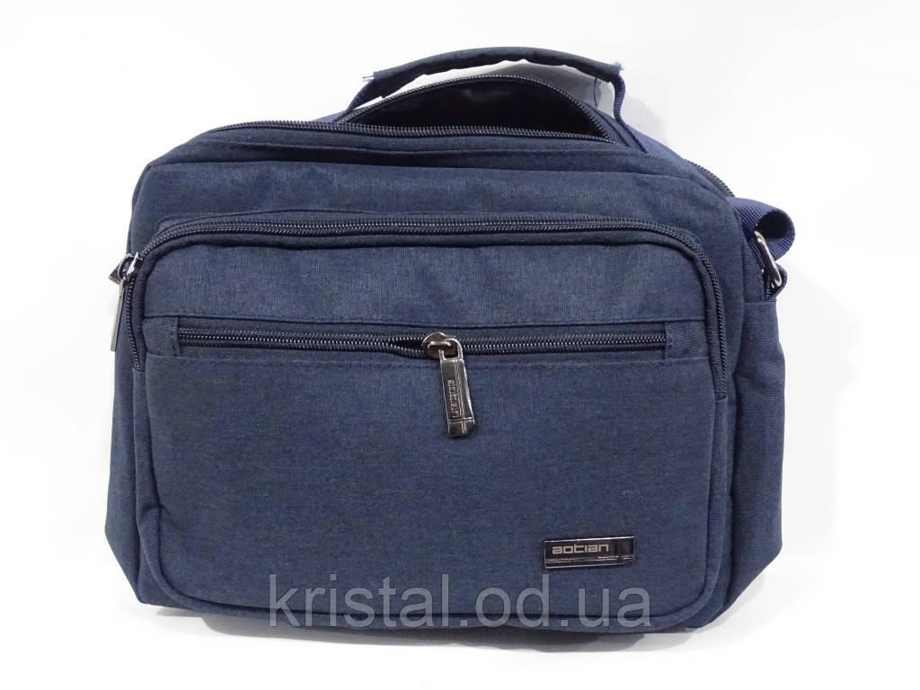 """Чоловіча текстильна сумка на плече 24*21 див. серії """"Premium"""" №4986"""