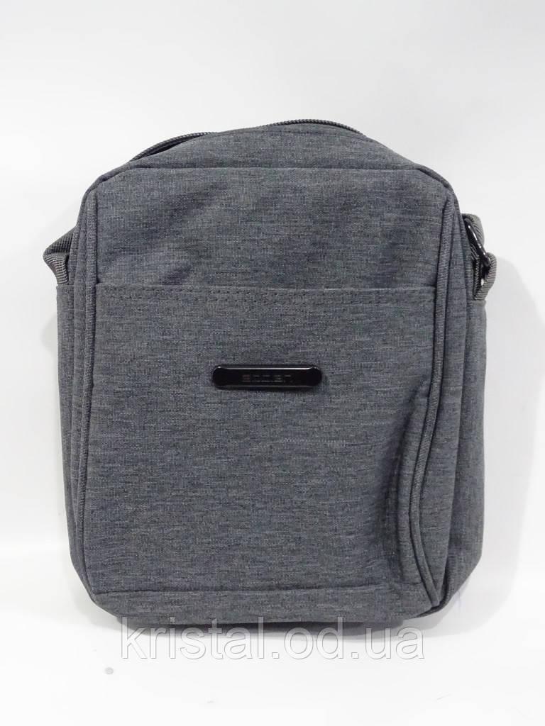 """Мужская текстильная сумка на плечо 16*21 см. серии """"Premium"""" №4990"""
