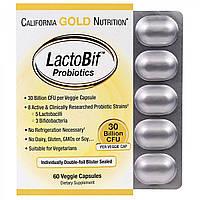 Пробиотики CGN, LactoBif Probiotics 30 млрд КОЕ (60 капс.), пробіотики