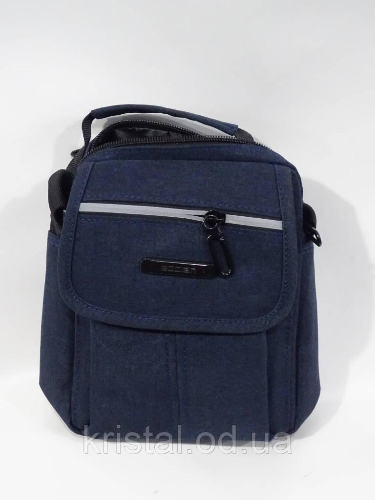 """Чоловіча текстильна сумка на плече 16*20 див. серії """"Premium"""" №5008"""