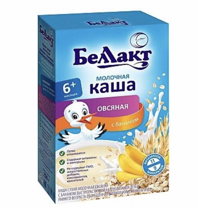 Молочная  каша  Беллакт овсяная с бананом  с 6 месяцев 200 гр