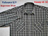 Классическая рубашка Б/У. Длинный рукав. 50 размер. 39 ворот, фото 1