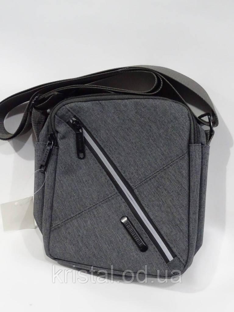 """Мужская текстильная сумка на плечо 16*20 см. серии """"Premium"""" №5017"""