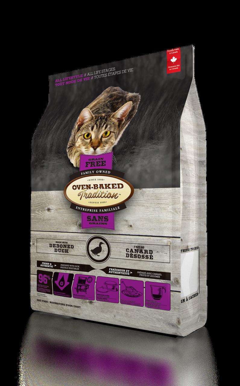 Oven-Baked Tradition беззерновой сухой корм для кошек со свежего мяса утки 2.27 кг.