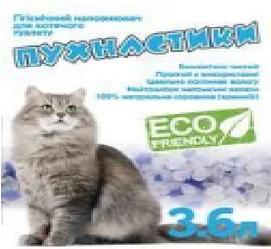 Наповнювач Пухнастики силікагелевий для котів 3,6 л