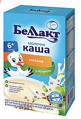 Молочна каша Беллакт гречка з яблуком з 6 місяців 200 гр