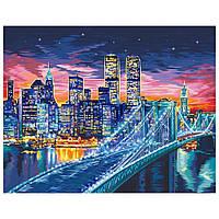 Набір для малювання картини за номерами Нічний Манхеттен KPN-01-10U