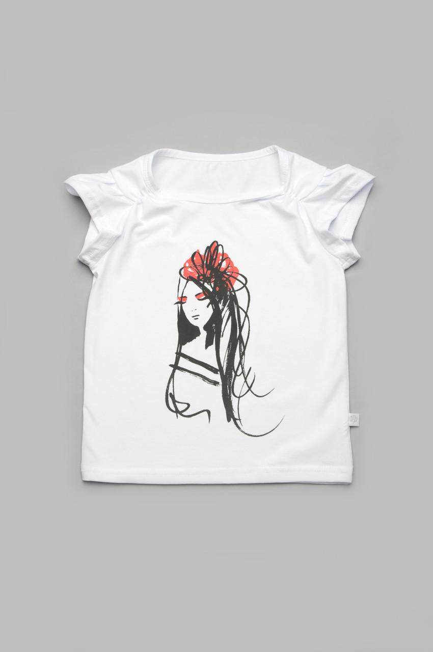 """Модная футболка для девочек хлопковая """"Леди"""""""