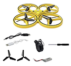 Квадрокоптер Drone TRACker Ultra Yellow дрон с сенсорным управлением жестами руки Квадрокоптеры Дрон, фото 3