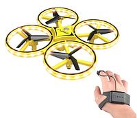 Квадрокоптер Drone TRACker Ultra Yellow дрон с сенсорным управлением жестами руки, фото 1