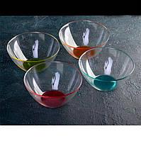 Салатник стеклянный с цветным дном ОСЗ ЛакМикс 11 см (8390)