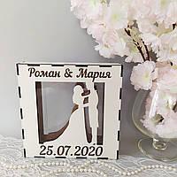 Коробка для песочной церемонии из фанеры, фото 1