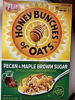 Сухой завтра медовые хлопья POST Honey Bunches с орехом пекан и кленовым сиропом