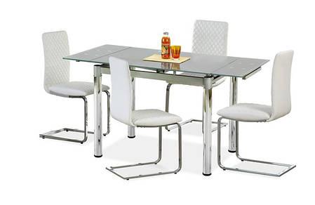 Стол обеденный LOGAN 2 96-142/70/75 см, серый, фото 2