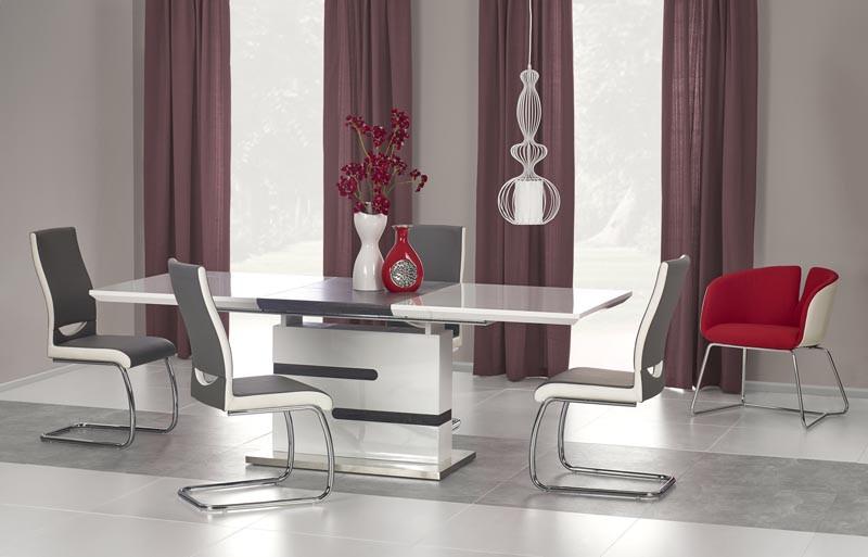 Стол обеденный MONACO 160-220*90*76 см, бело-серый
