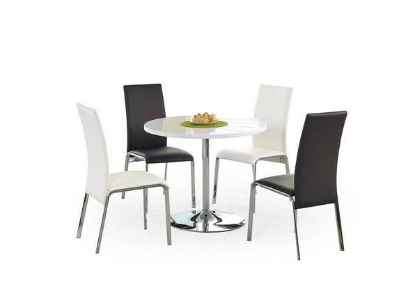Стол обеденный OMAR fi90/75 cm, белый, фото 2