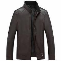 Мужская кожаная куртка. Модель 2028, фото 2