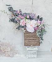Декоративная композиция на стенустол в лиловых тонах ПРЕМИУМ