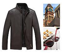 Мужская кожаная куртка. Модель 2028, фото 4