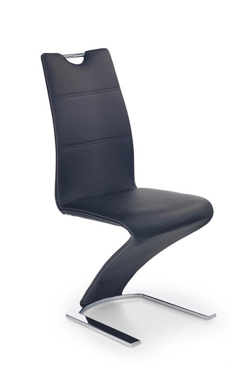 Обідній стілець м'який на металевих ніжках синій