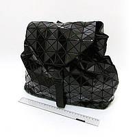 """6228-101G голографический черный рюкзак молодежный женский  """"Stylish""""  34x32x12 см"""