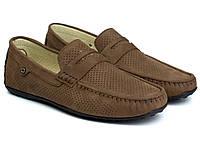 Взуття великих розмірів чоловіча коричневі літні мокасини нубук Rosso Avangard ETHEREAL CappuccBroNubPerfBS, фото 1