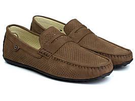 Взуття великих розмірів чоловіча коричневі літні мокасини нубук Rosso Avangard ETHEREAL CappuccBroNubPerfBS