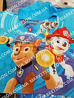 Детское пляжное полотенце пончо с капюшоном Щенячий патруль 2020