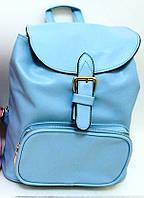 """2709 рюкзак молодежный женский """"Dream"""" 28*26*11см голубой экокожа"""