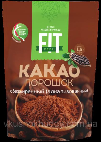 Какао-порошок ФитПарад Fit Fell обезжиреннный, алкализованный (150 грамм)