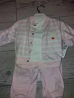 Ясельний спортивний костюм 3ка розові, голубий ріст 68,74,80