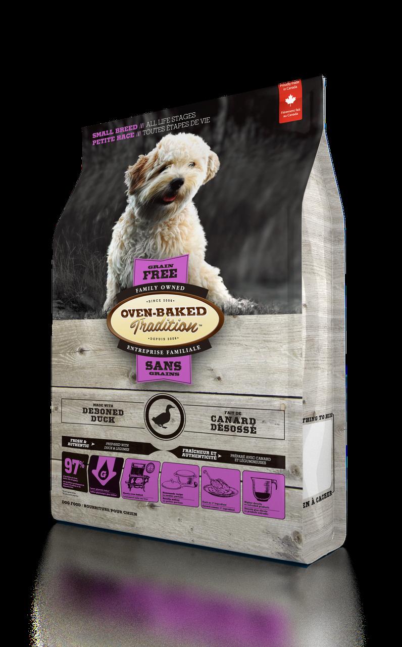 Oven-Baked Tradition беззерновой сухой корм для собак малых пород со свежего мяса утки 2.27 кг.