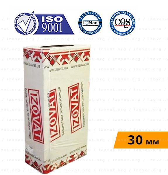 Izovat 135 (Изоват) фасадный базальтовый утеплитель 30 мм