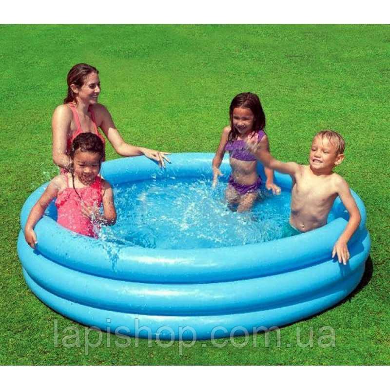 "Надувной бассейн Intex 59416 ""Кристалл""  винил 114х25см"