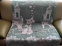 Лляне стьобане покривало на ліжко  євророзмір (Льняное стёганое покрывало на кровать евро)